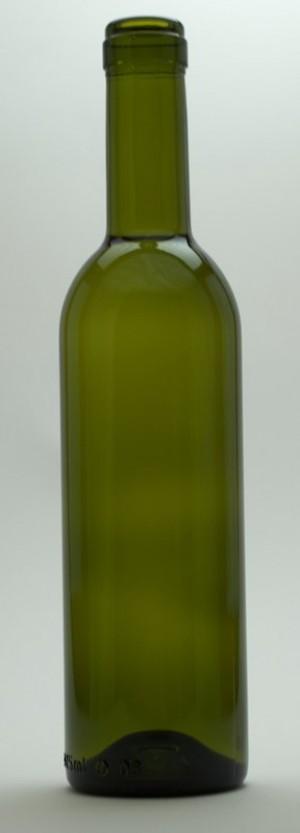375mL DARK GREEN SEMI-BORDEAUX MID-PUNT BOTTLES 24/CASE