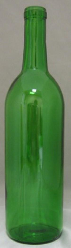 750mL CHAMPAGNE GREEN BORDEAUX FLAT BOTTOM 12/CASE