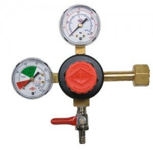 Taprite Brand CO2 Beer Regulator, Double Gauge, 5/16 Check Valve