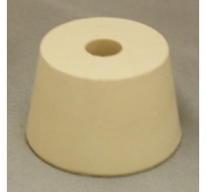 #7.5 DRILLED RUBBER STOPPER