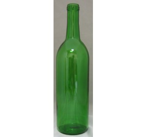 750mL CHAMPAGNE GREEN BORDEAUX FLAT BOTTOM 12/CASE
