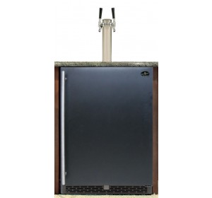 DUAL TOWER WITH BLACK DOOR BUILT-IN HOMEBREW - PREMIUM SERIES (kegs not included) **FREE SHIPPING**