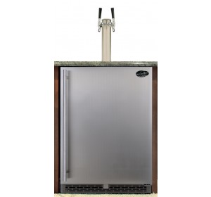 DUAL TOWER WITH STAINLESS STEEL  DOOR BUILT-IN HOMEBREW - PREMIUM SERIES (kegs not included) **FREE SHIPPING**