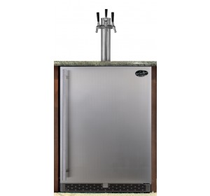 TRIPLE TOWER WITH STAINLESS STEEL DOOR BUILT-IN HOMEBREW - PREMIUM SERIES (kegs not included) **FREE SHIPPING**