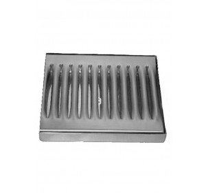 6 x 5 surface mount stainless steel drip tray